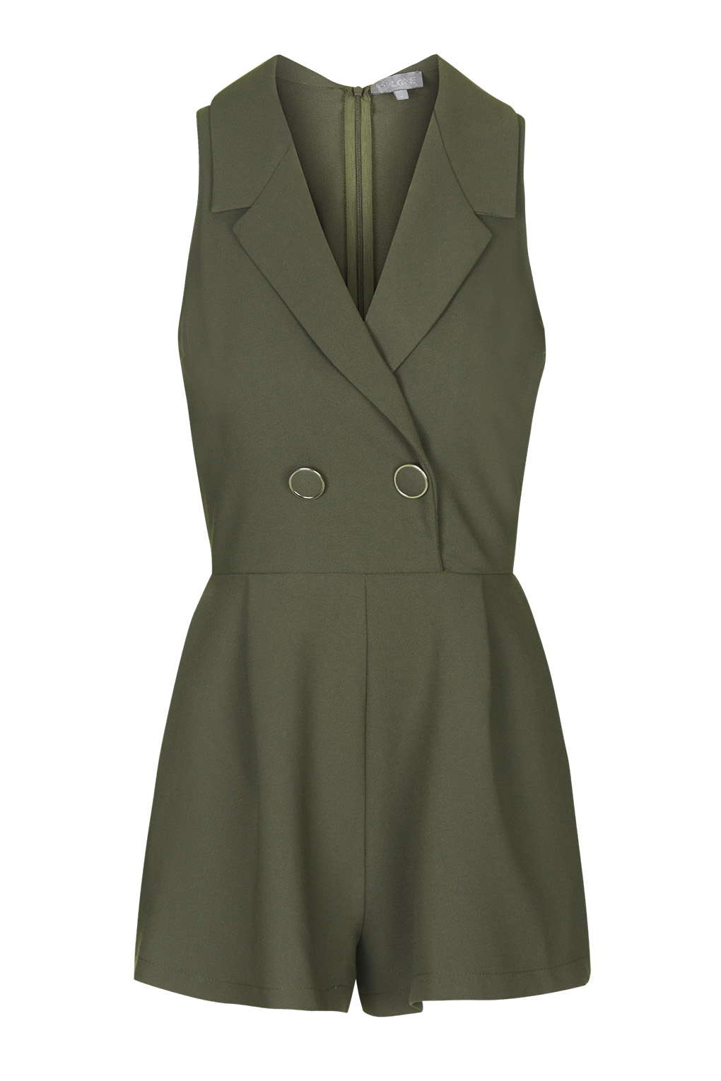 Tuxedo Playsuit by Love; Topshop