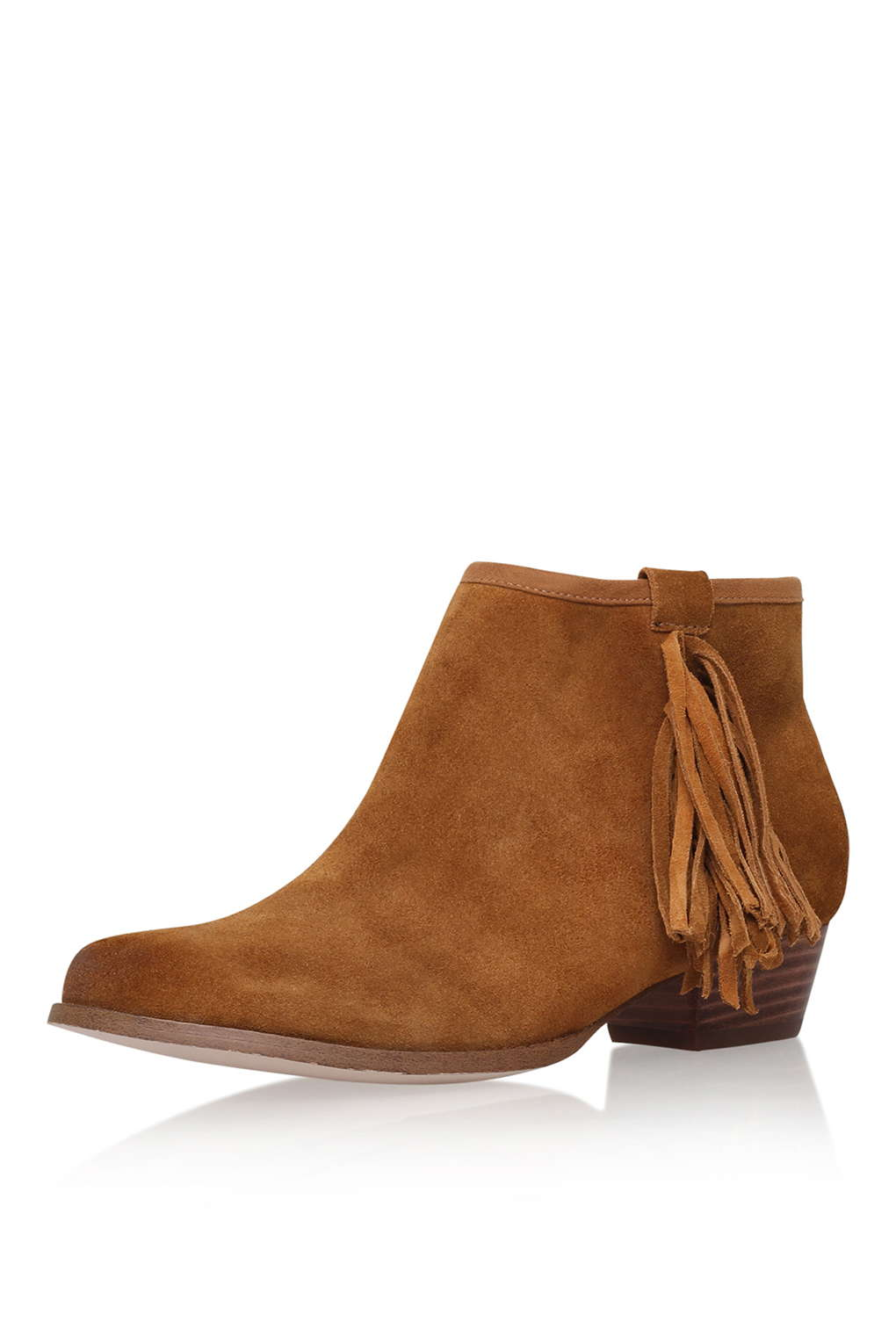 Bootie with fringe; Topshop