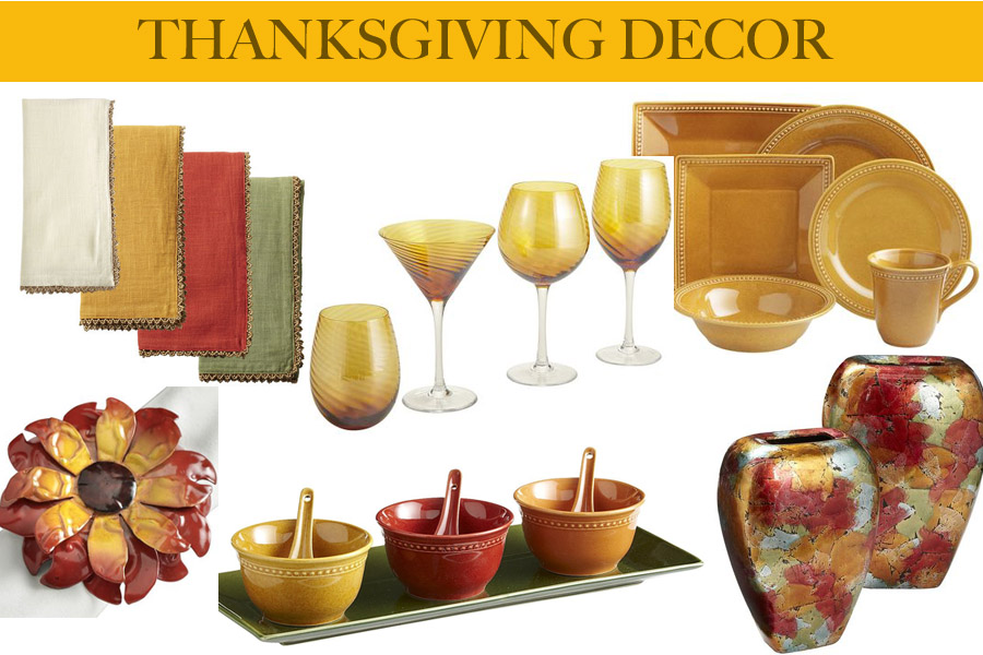 Home decor thanksgiving edition traffic chic for Thanksgiving home decorations